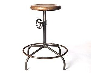 steel stool with footrest, footring