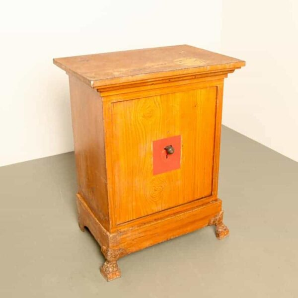 Safe with faux wood finish