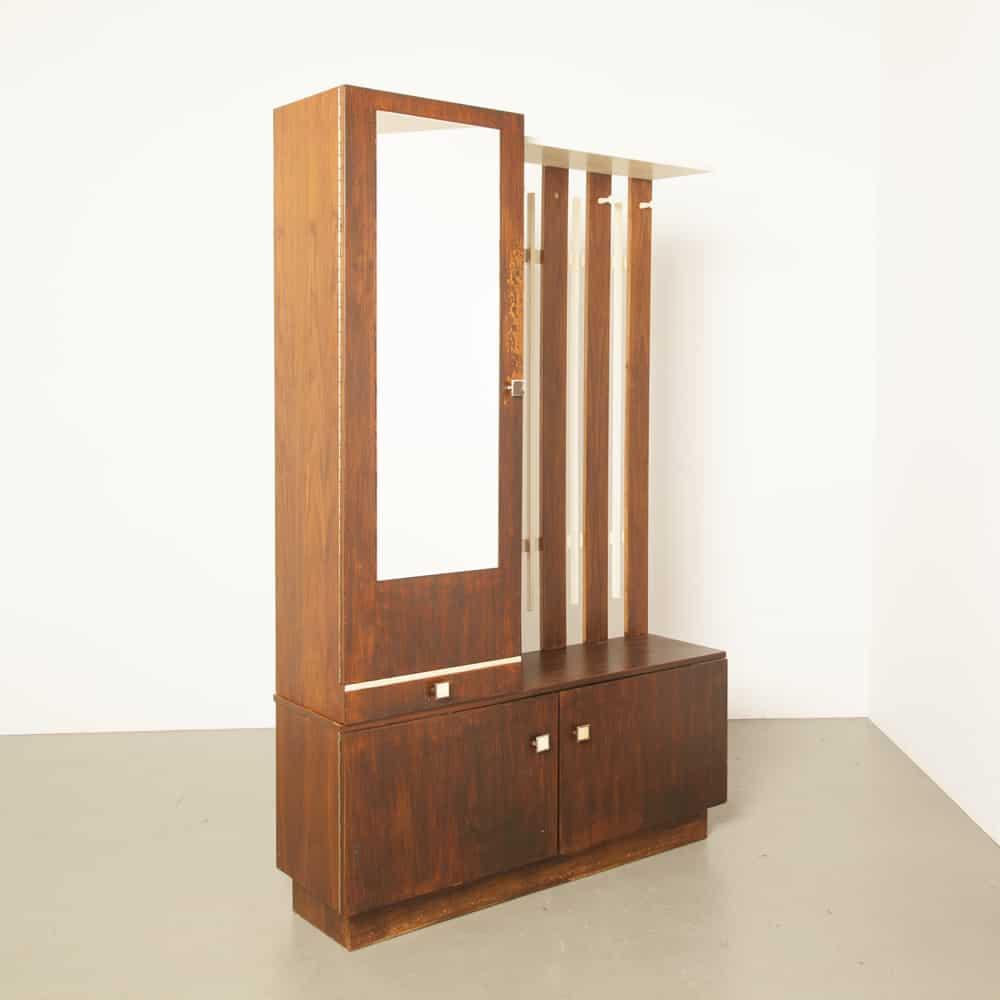 Hall cabinet 1960s coat rack cupboard locker 60s sixties vintage retro midcentury modern
