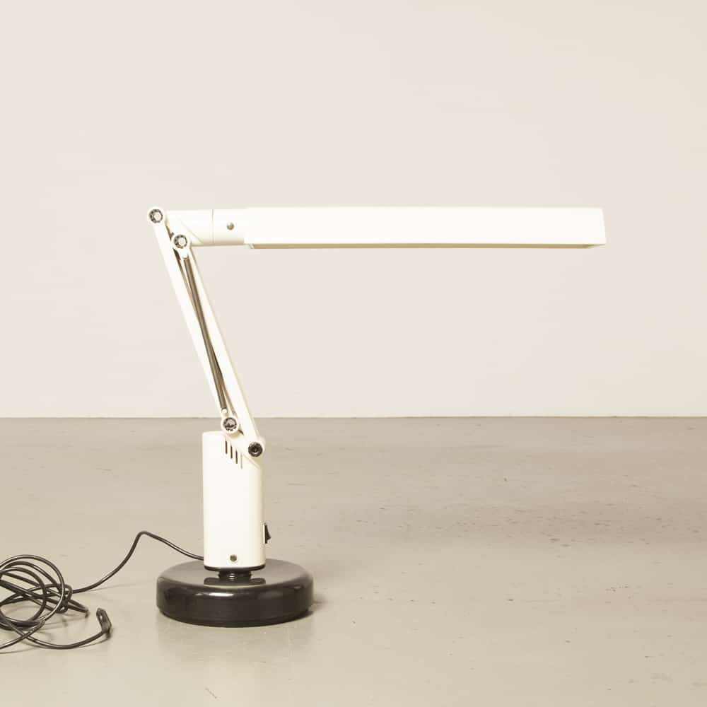 Lucifer desk lamp light A&E Design Fagerhults Sweden plastic white adjustable classic fluorescent vintage retro fantastic 70s 1970s seventies