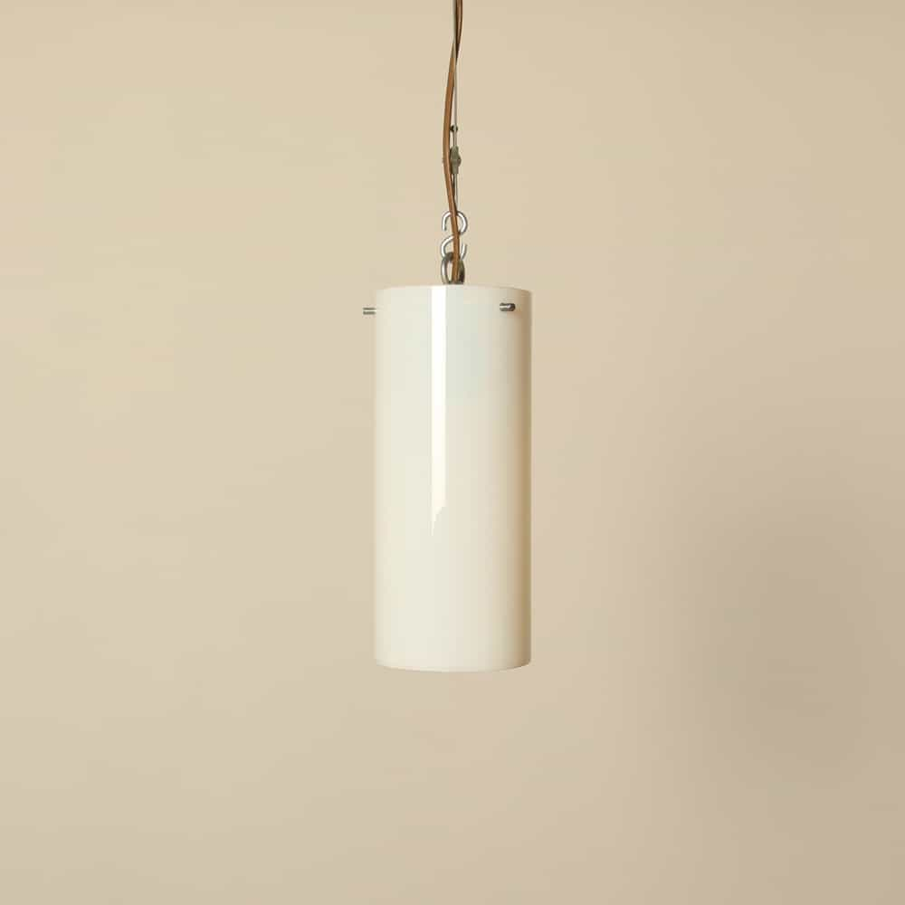 Gispen milk glass cylinder hanging lamp