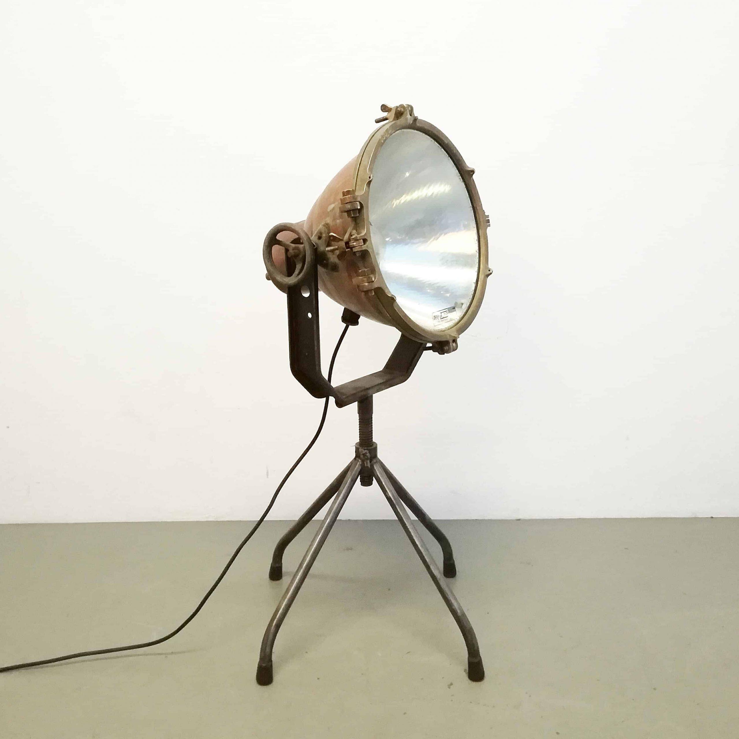 立式落地灯工业工业可调式自行设计玻璃罩钢框架铜小
