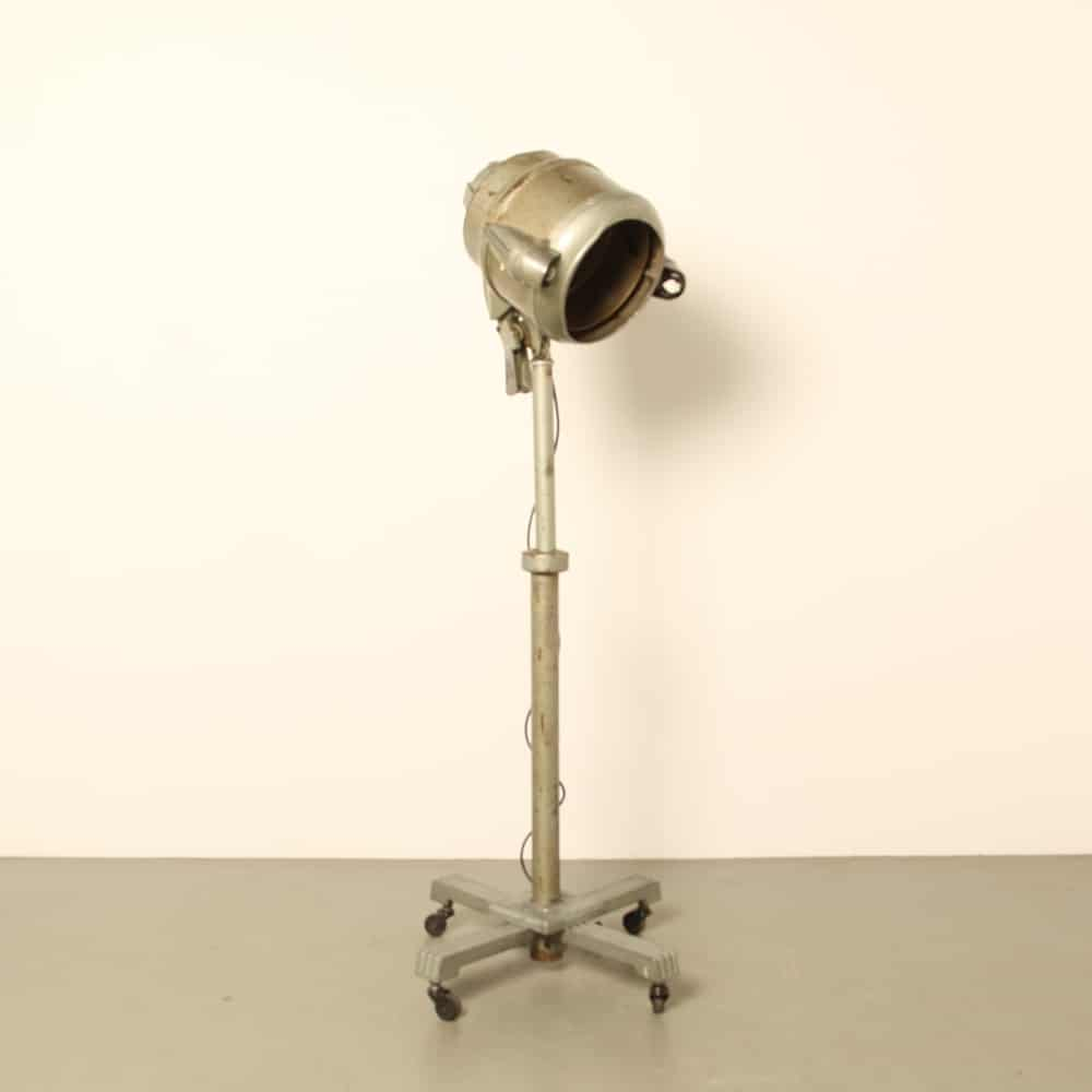 Turbinator staande föhn Britse WL Martin Elektrische ventilator jaren 1930 leeslamp industrieel vintage retro