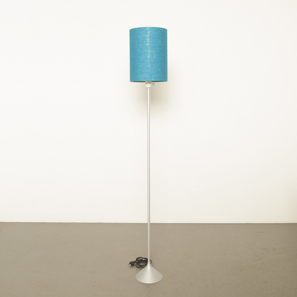 Joan Augé Taller Uno Floor Lamp anodized grey silver blue shade cap E27 design light secondhand modern contemporary Japan vintage retro 80s 1980s eighties