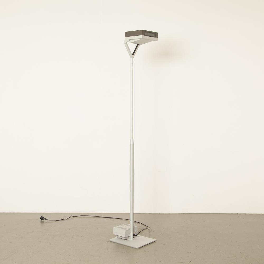 플로어 램프 Quadra BSI Ansorg Uplighter 회색 간접 프리 스탠딩 픽스쳐 디자인 스탠딩 사이클롭스 가벼운 산업용 견고한 외관 작업 현대 현대