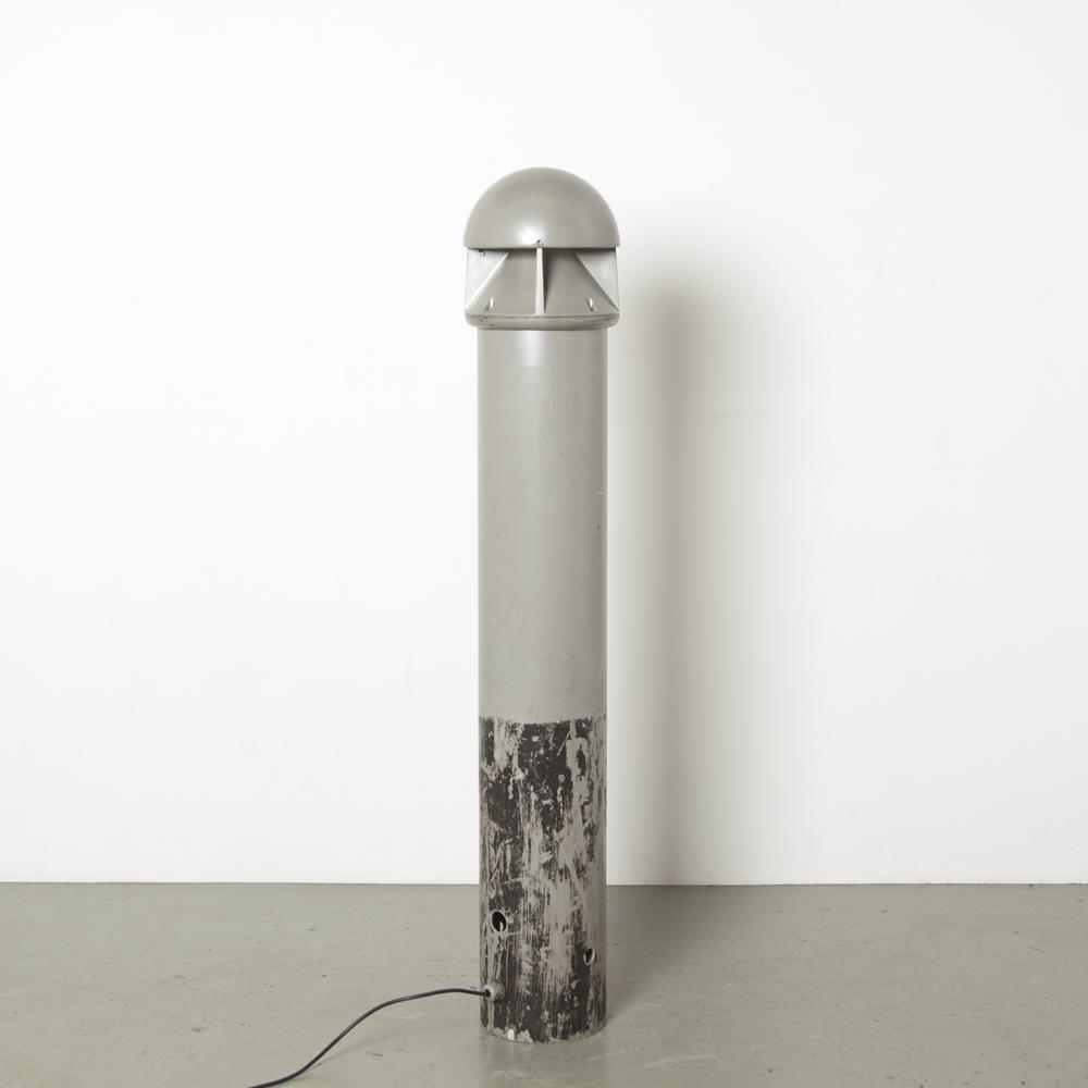 海滨灯柱灯Dan DangenHasløvLouis Poulson丹麦IP 44防泼溅灰色粉末涂层铝户外花园野兽掩体工业1980年代XNUMX年代