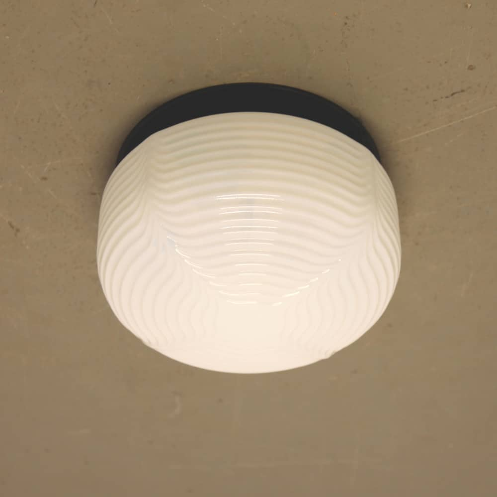 Eastern Bloc Ceiling Lamp milk glass round