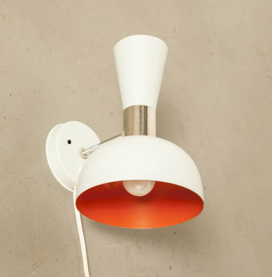 Double sided wall lamp Anvia Almelo sconce grey gray orange Hala two direction light 60s 1960s sixties vintage retro