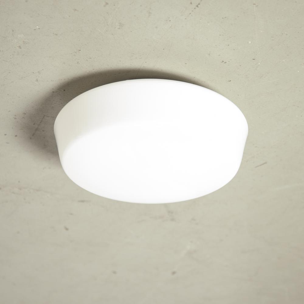 DKN-Classic Lámpara de techo satinada Plafonnière cristal opal blanco leche RZB Alemania E27 nuevo fuera de la caja montaje empotrado empotrable diseño de pared moderno contemporáneo