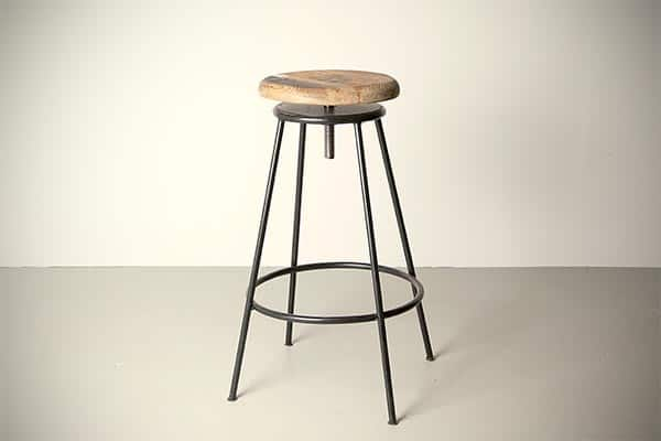 raw bar stool,