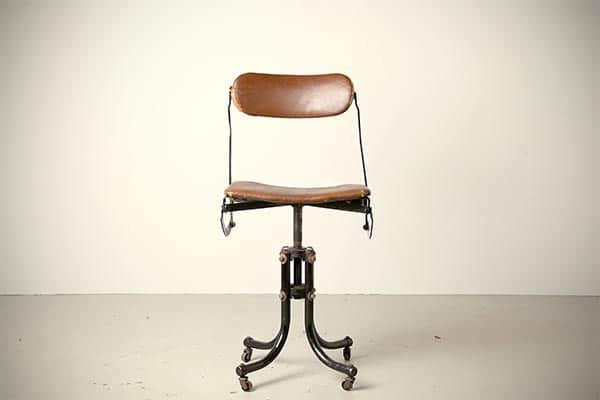 Tan Sad Ahrend Cirkel typist chair antique desk office 1920s England doe meer do more