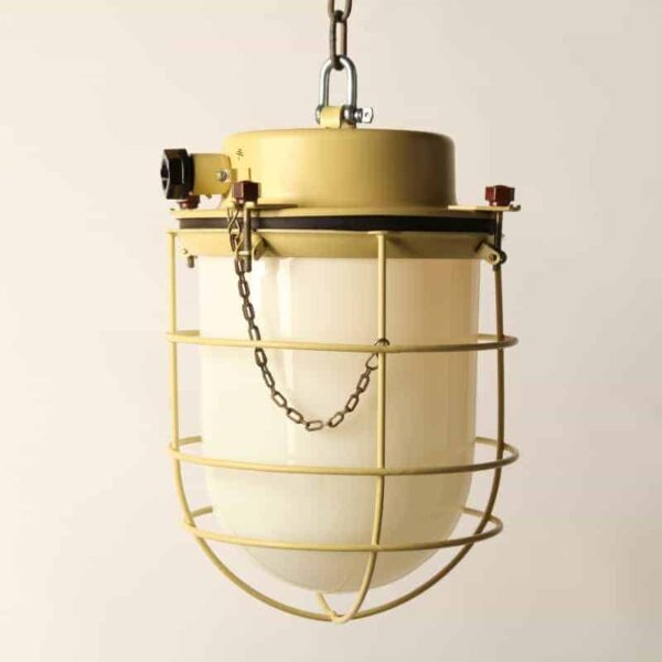 industrial ceiling lamp yellow
