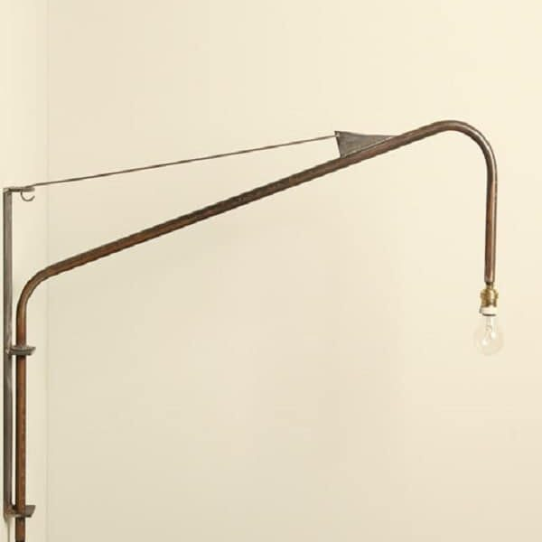 tubular wall lamp industrial