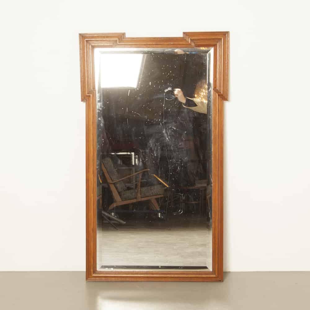 골동품 오크 거울 경 사진 컷 유리 빅토리아 프레임 빈티지 레트로 brocante