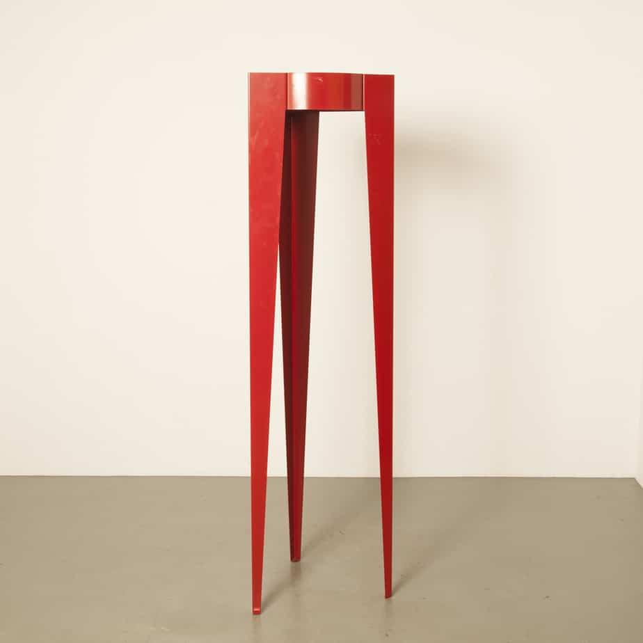 红色Chase G衣帽架Michiel van der Kley Van Esch衣柜立式环氧涂层钢板二手荷兰设计站立当代2010年代