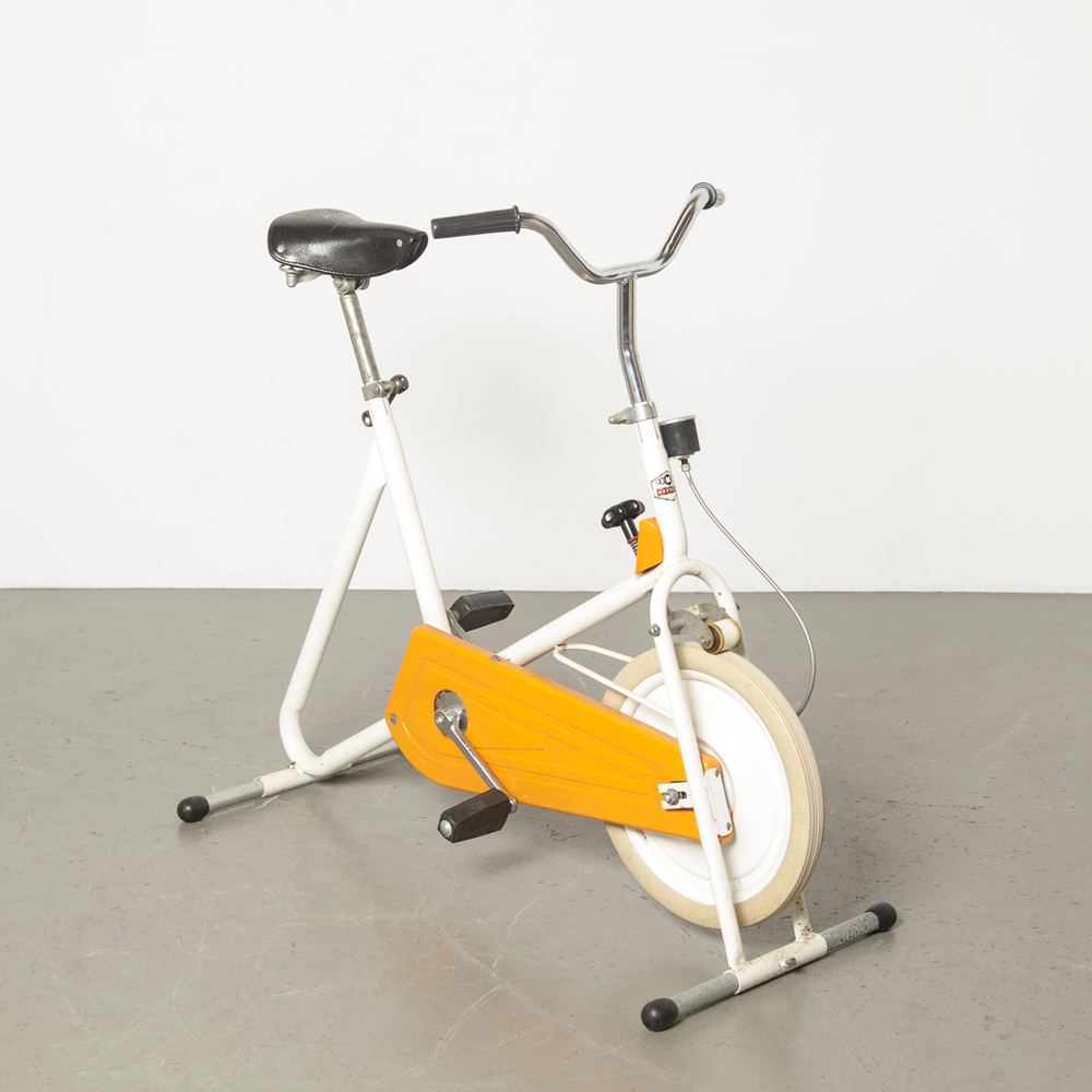 Kettler Home Trainer Bicycle orange movement stay fit cross trainer Germany muscle train condition vintage retro 70s weight adjustable height manual 1970s seventies fitness health