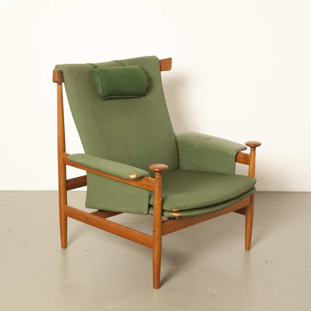 Bwana Lounge Chair Finn Juhl France & Son Denmark 152 original needs new upholstery solid teak classic armchair 60s 1960s sixties vintage retro