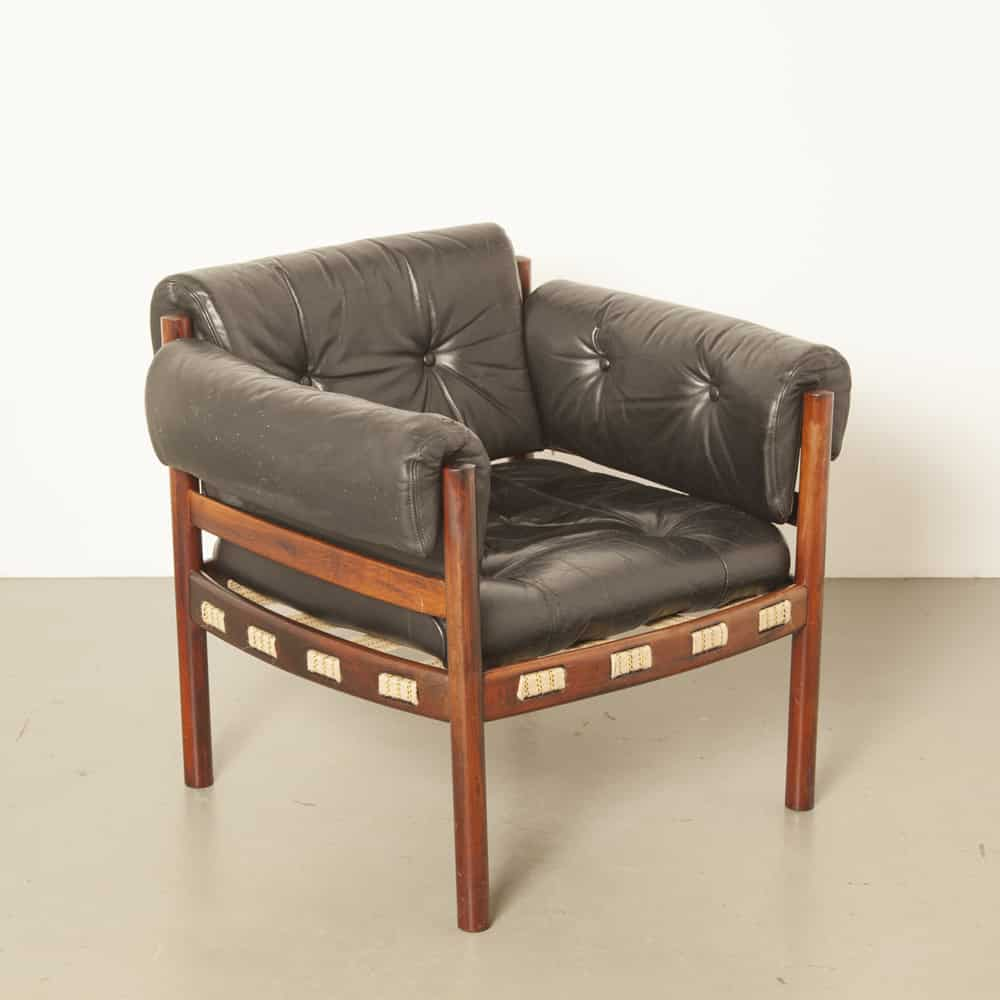 SF181211I-0-H-Sven-Ellekaer-armchair-Coja-black-leather-Scandinavian-rosewood-new-webbing-60s-1960s-sixties-vintage-retro