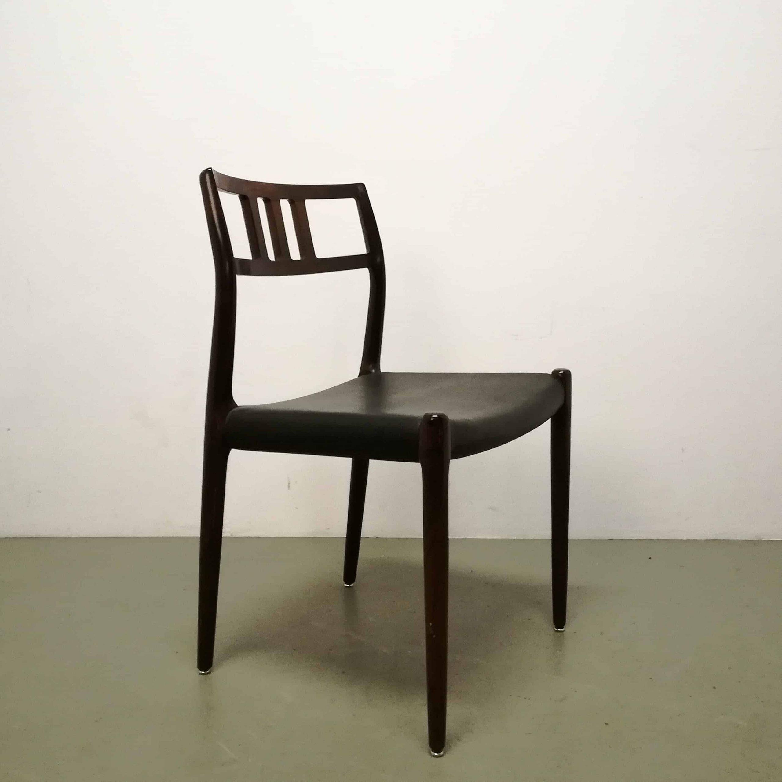 كرسي-غرفة الطعام- model79-79-niels-moller-jlmoller-jl-denmark-1950's-set-black-leather-rosewood-Vintage-منتصف-القرن التسمية