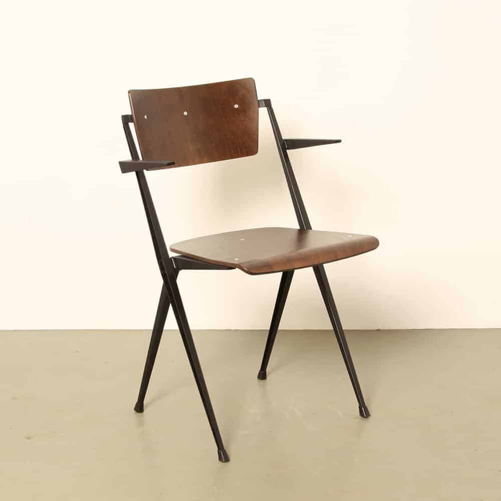 Wim Rietveld Pyramide Chair armrests