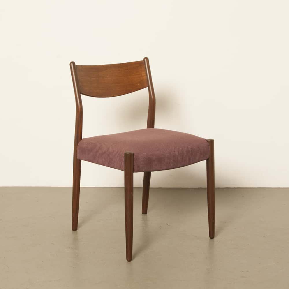 Fristhoに触発されたダイニングルームの椅子モラーモブラースタイルヴィンテージレトロデンマーク60年代1960年代XNUMX年代