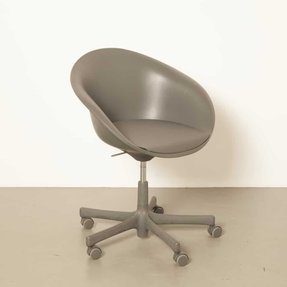 Hula Hoop Philippe Starck Vitra Germany dark grey 00s 2000s Noughties design office chair conference swivel shell