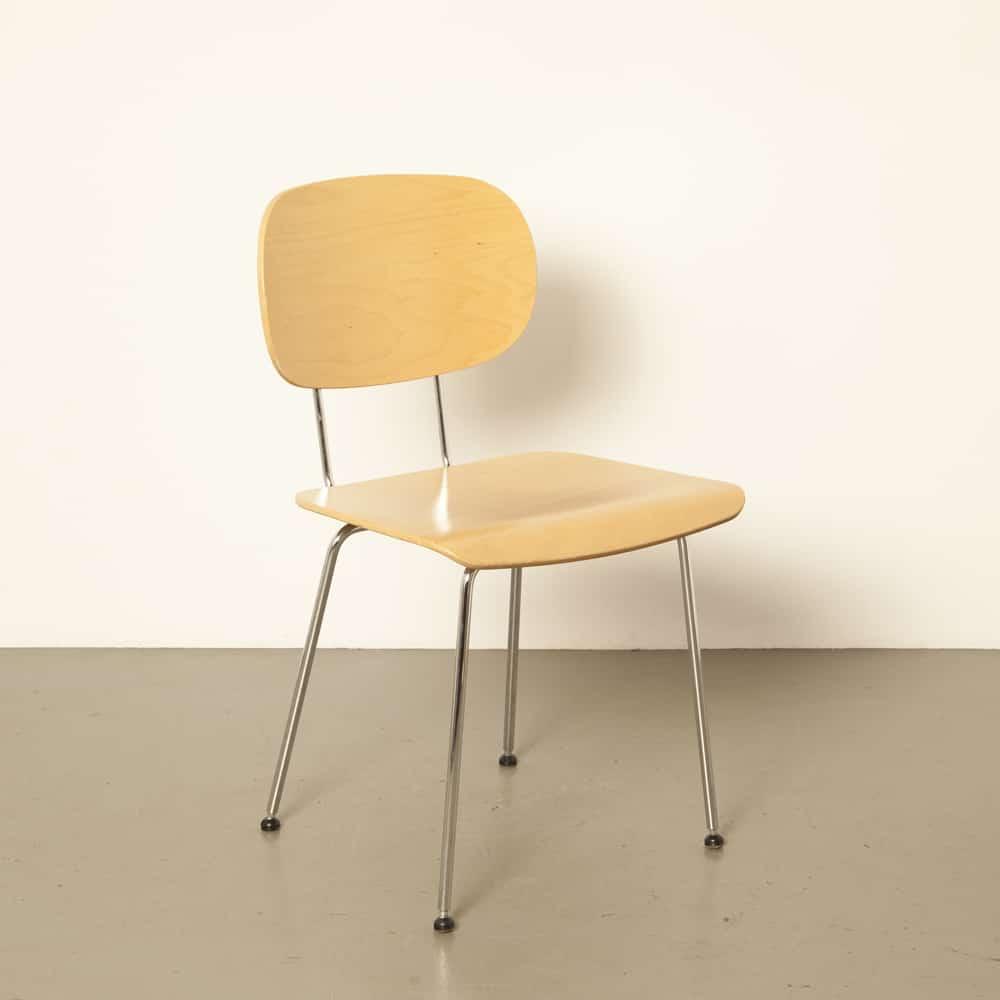 Gispen 116 1245 chair Wim Rietveld Gebr Stroom Dutch Originals bar-steel chrome beech curved rubber discs 1950s design vintage retro 50s fifties