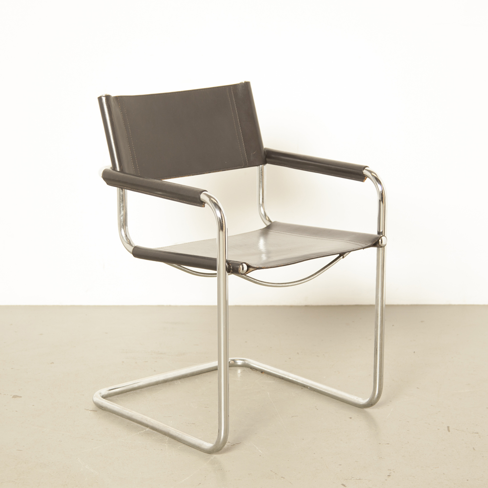 MG5-chair-Marcel-Breuer-Mart-Stam-JOX-Interni-Italiy-armrest-chrome-tubular-floating-cantilever-black-thick-saddle-leather-Bauhaus-1920s-vintage-retro-design-classic-twenties