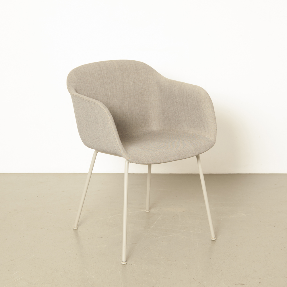 Fiber Chair tube base grey Muuto Iskos-Berlin Scandinavian design textile tub shell modern contemporary 2010s armrest functional composite plastic