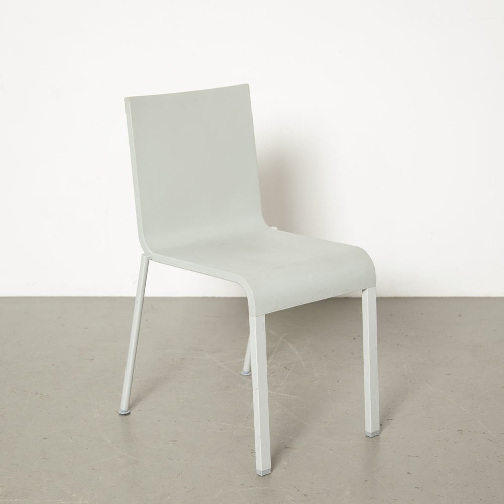 .03 chair Maarten Van Severen Vitra Germany light grey stack stackable flexible polyurethane foam design 00s 2000s Noughties secondhand modern contemporary