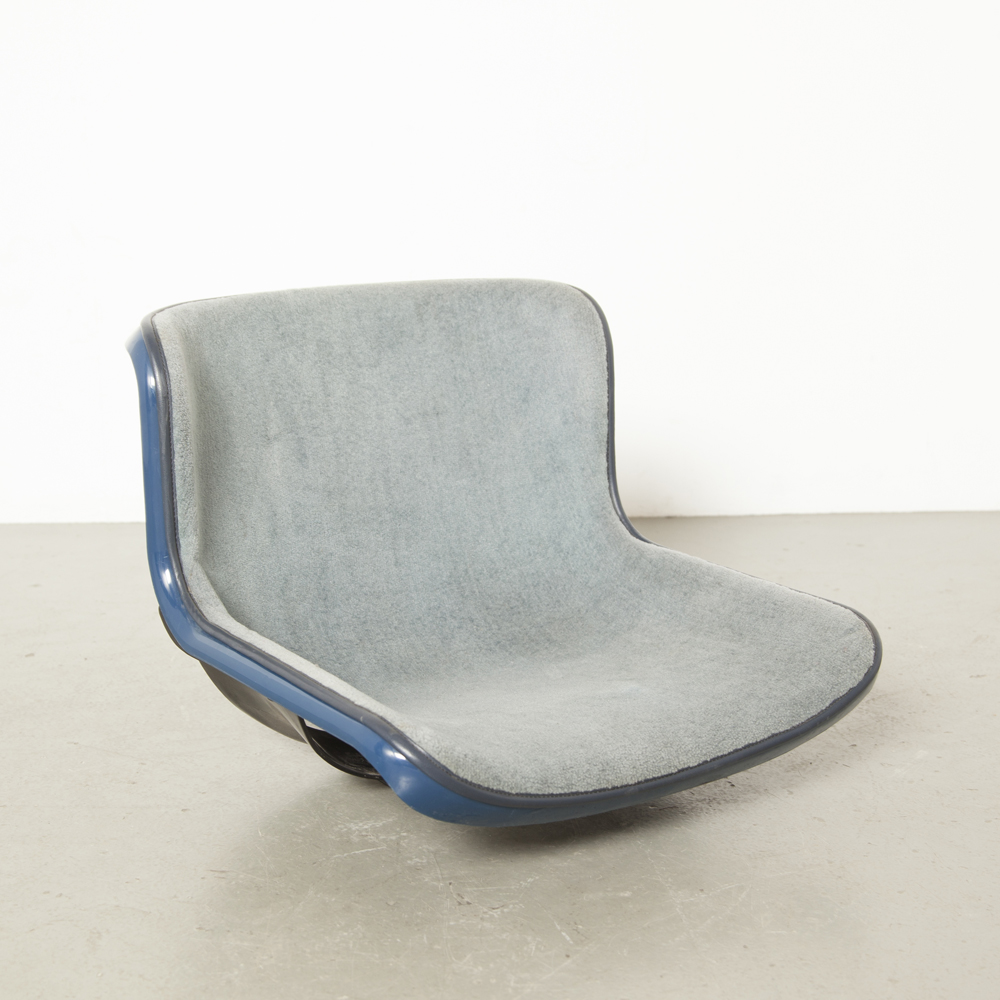 Blue Spirit bucket seat chair shell Hajimi Oonishi Houtoku Artifort beam stepped floor mounted Fantastic Plastic seventies Stadium Gymnasium Auditorium Theater fixed seating