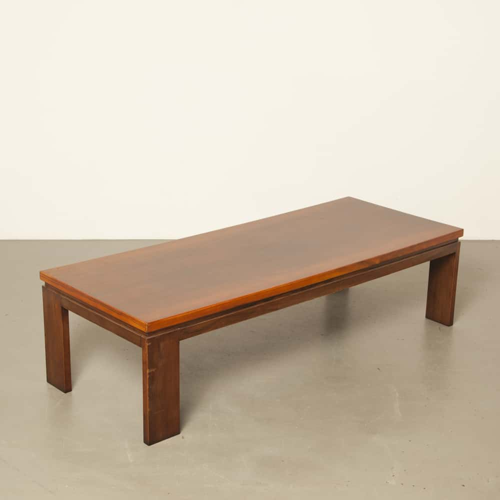 Danish rio rosewood salon coffee table solid vintage retro 60s 1960s sixties secondhand design leg turned a quarter turn