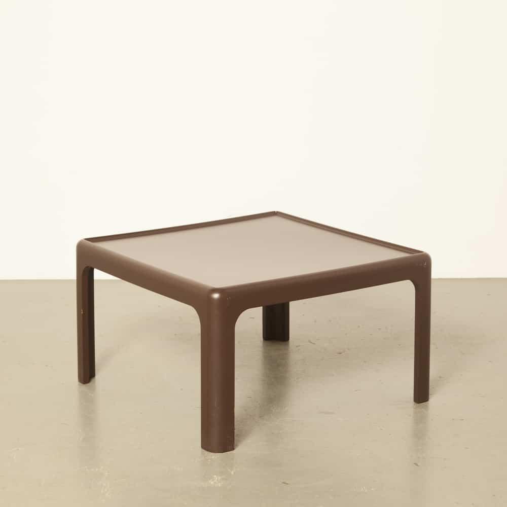 咖啡边桌棕色Peter Ghyczy Horn Collection Baydur System BAYER德国设计功能主义复古怀旧70年代1970年代七十年代休息室