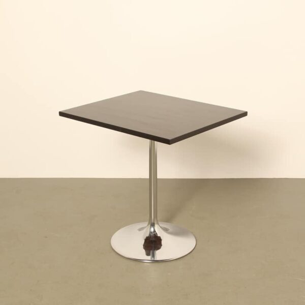 Square black cafe table