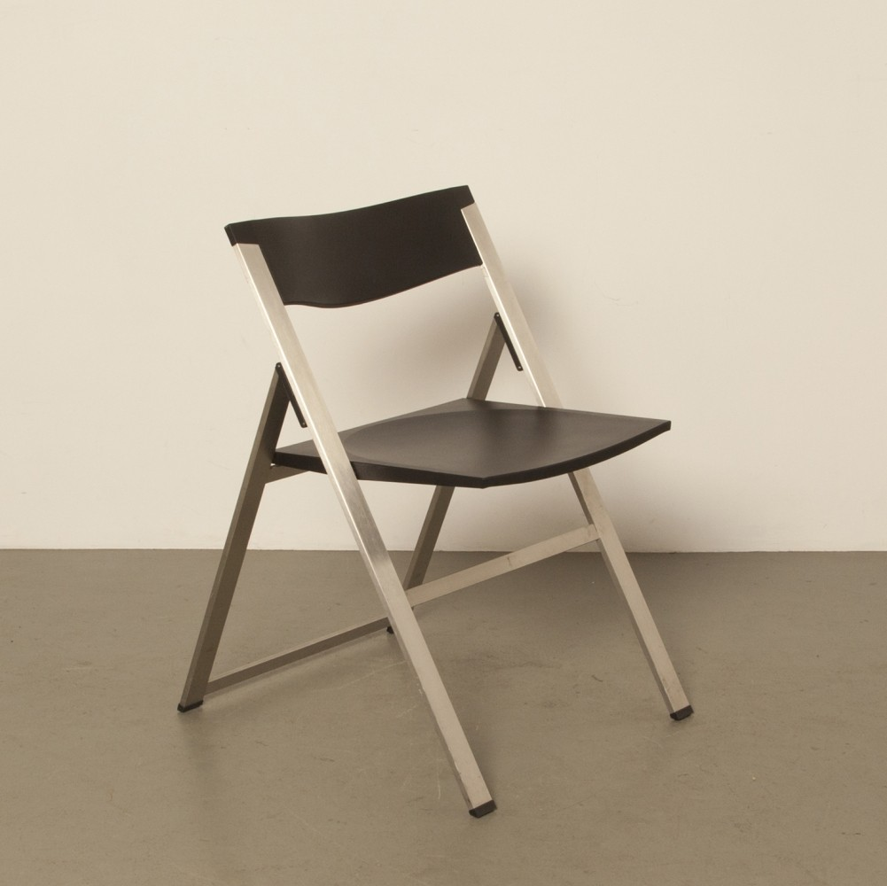 Tecno P08 Kolberg stainless black folding chair