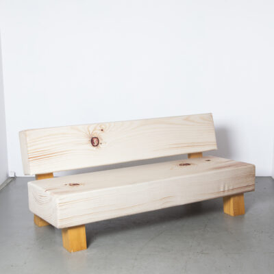 Soft Wood Bench Studio Front Moroso 14