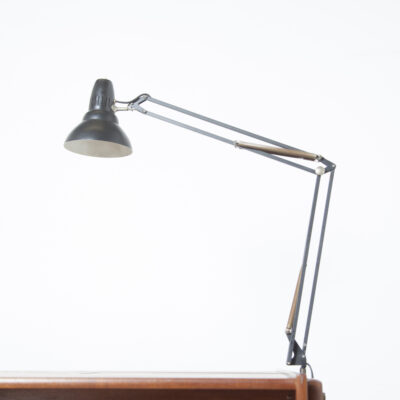 Desk-light Executive Desk Clausen Maerus Norway Eden Rotterdam Netherlands black lamp light E27 writers architects table work office mounting hole Scandinavian modern vintage retro 1960s sixties 60s seventies