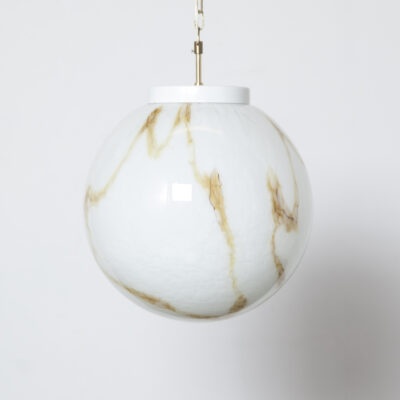 Marbled XXL Murano glass ball pendant 13