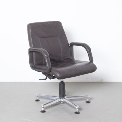 Office chair Dauphin brown leather 12