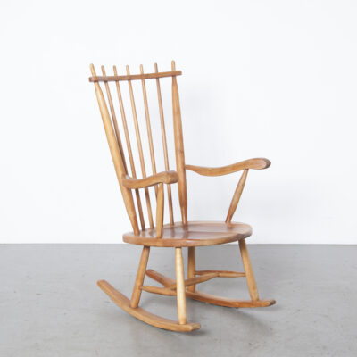 Cadeira de balanço de encosto alto de Ster Gelderland 9