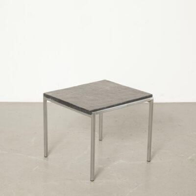 Natural stone side table, chrome base 5