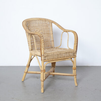Rattan chair Gunther Lambert wicker cane seat bent bamboo frame armchair lounge easy wickerwork Vintage design retro brocante