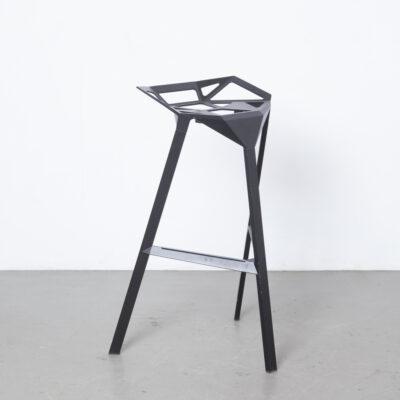 Stool_One XL Konstantin Grcic Magis Италия черный анодированный алюминий штабелирование на открытом воздухе Барный стул DarthVader литой под давлением современный дизайн подержанное сиденье для стула