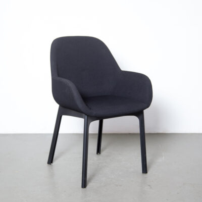 Clap chair Patricia Urquiola Kartell Italy black fabric home office plastic base Soft Line elegant functional 2010s side modern contemporary design seating seat twenty-tens
