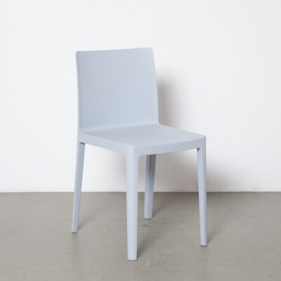 Elémentaire chair Ronan Erwan Bouroullec HAY Denmark matt pale grey blue plastic one piece simple functional recycled polypropylene eco-friendly 2010s side modern contemporary design seating seat twenty-tens