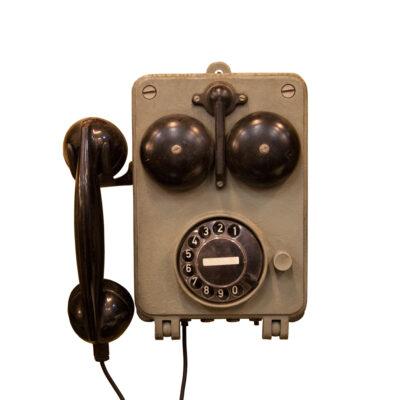 Ijtunnel Fernsig Essen德国声音驱动的电话壁挂式安装工业老式复古电话古色铸金属工厂隧道煤矿船船舶海上装饰对象装饰旧坚固耐用工作环境