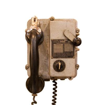 Telos克拉科夫波兰APZ声音驱动的电话壁挂式工业老式复古电话古色铸造金属工厂隧道煤矿船船舶海上装饰对象装饰旧坚固耐用工作环境