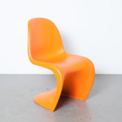 Panton Chair Verner Vitra original orange imprinted plastic fantastic space age wavy shape design classic sculptural stackable 60s 1960s sixties pearl vintage mid-century modern authentic licensed