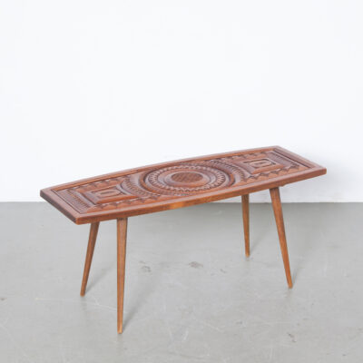 -coffee-side-table-hand-carved-surface-teak-vintage