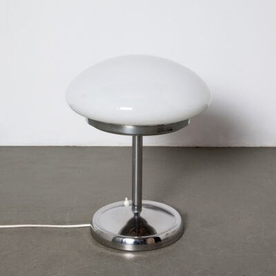 -Mushroom-Table-Lamp-desk-white-chrome-opal-glass-60s-vintage-space-age